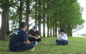 公園でひと休み